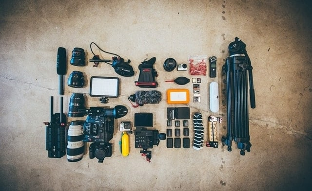 filmmaking equipment list