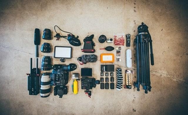 filmmaking equipment list